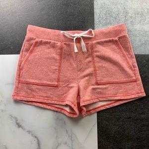 LOU & GREY Terry Texture Lounge Shorts Peach M LN